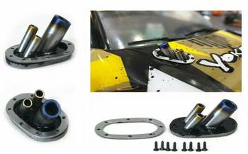 1/10 Scale Hood Exhaust Blue Tip Drift Accessories