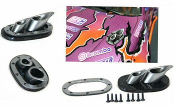 1/10 Scale HOOD EXHAUST Low Profile Drift Accessories