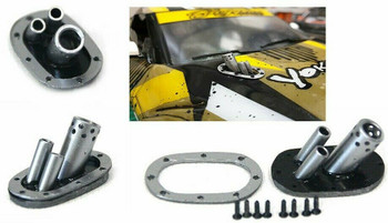 1/10 Scale HOOD EXHAUST Silver Drift Accessories