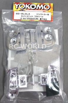 Yokomo 1/10 RC Car LIGHT BUCKETS For Dunlop ER34 NISSAN Skyline SD-BLDLA