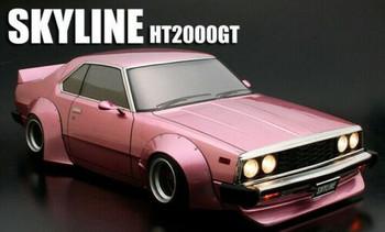 1/10 RC Car Body NISSAN SKYLINE HT2000GT Wide Body #66167-Clear-