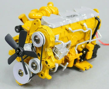 1/12 Scale C-7 Caterpillar ENGINE Model Diecast w/ Internal Fan Motor