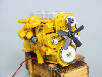 1/12 C-7 Caterpillar ENGINE Model Diecast w/ Internal Fan Motor
