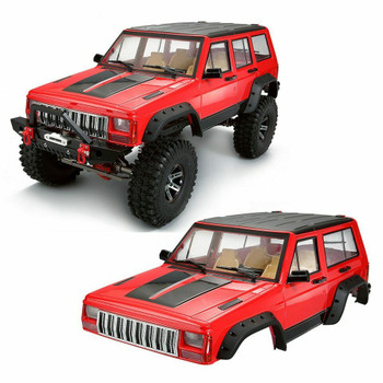 1/10 JEEP CHEROKEE Scale Truck Hard Body w/ Interior 313mm RED