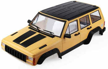 1/10 JEEP CHEROKEE Scale Truck Hard Body w/ Interior 313mm YELLOW