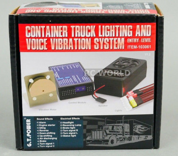 G.T Power 1/10 Truck LIGHTING + SOUND + VIBRATION System For Diesel Semi Trucks
