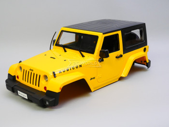 1/10 Jeep Wrangler Rubicon SWB 275MM 2 Door Hard Body YELLOW