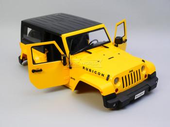 1/10 Jeep Wrangler Rubicon  2 Door Hard Body YELLOW