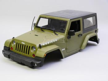 1/10 Jeep Wrangler Rubicon SWB 275MM 2 Door Hard Body GREEN