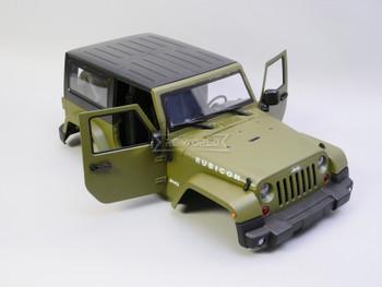 1/10 Jeep Wrangler Rubicon 2 Door Hard Body GREEN