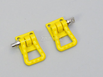 1/10 Scale Truck Accessories Metal Anchor Wide Shackle Plate Yellow