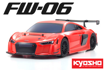 Kyosho 1/10 RC AUDI R8 Race Car NITRO Gas 2-Speed 4WD -RTR- Red
