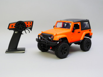 RC 1/14 Jeep Wrangler Rubicon 4x4 *RTR* Orange Hard Top