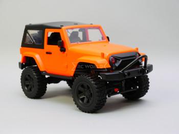 RC 1/14 Jeep Wrangler Rubicon Orange Hard Top