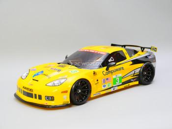 1/10 RC Body Shell CHEVY CORVETTE w/ Light Buckets Racing Yellow