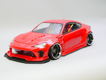 1/10 RC Car BODY Shell Toyota 86 Wide Body 200mm *FINISHED* Red