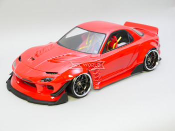 1/10 RC Car BODY Shell Mazda RX7 Wide Body 200mm *FINISHED* Red