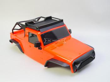 1/10 Jeep Wrangler Body Shell 2 Door Pick Up 313mm RED