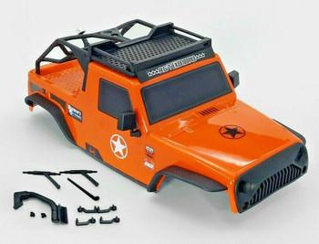 1/10 Jeep Wrangler Body Shell 2 Door Pick Up 313mm ORANGE