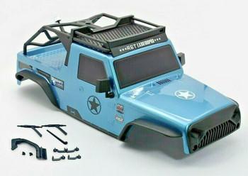 1/10 Jeep Wrangler Body Shell 2 Door Pick Up 313mm BLUE