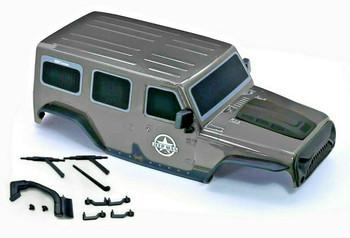 1/10 Jeep Wrangler Body Shell 4 Door Hard Top 313mm GRAY