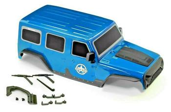 1/10 Jeep Wrangler Body Shell 4 Door Hard Top 313mm BLUE