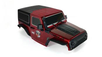 1/10 Jeep  Wrangler Body Shell 2 Door Hard Top 285mm Red