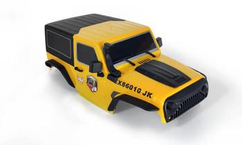 1/10 Jeep  Wrangler Body Shell 2 Door Hard Top 285mm Yellow