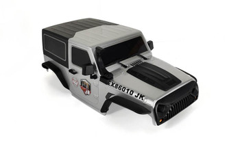 1/10 Jeep  Wrangler Body Shell 2 Door Hard Top 285mm Silver