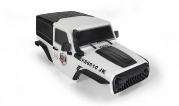 1/10 Jeep  Wrangler Body Shell 2 Door Hard Top 285mm White