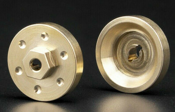 Axial SCX24 Front Metal HUBS BRASS 6.8G Each (2pcs)