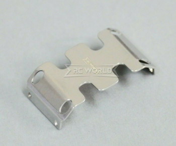 Axial SCX24 Metal Lower Skid Plate Guard (1pcs) Silver