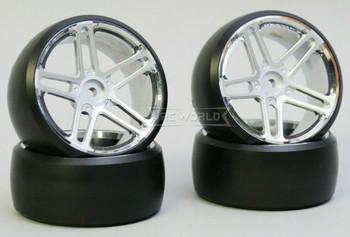 Fly Wheels 1/10 Large 2.2 WHEELS Set AMG Silver -DRIFT-