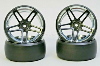 Fly Wheels 1/10 Large 2.2 WHEELS Set AMG Black -DRIFT-