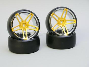 Fly Wheels 1/10 Large 2.2 WHEELS Set AMG Gold -DRIFT-