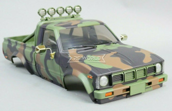 1/10 Toyota Pickup Truck Hard Body Shell CAMO + Accessories