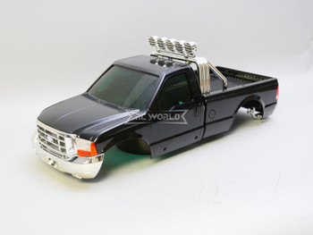 1/10 Ford F350 Pickup Truck Hard Body Shell BLACK