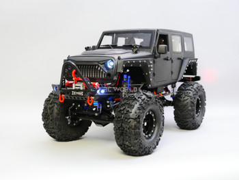 1/10 RC JEEP WRANGLER RUBICON 2-SPEED Rock Crawler 8.4V *RTR* BLACK