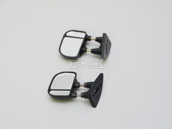 RC 1/10 Scale Truck Side Mirrors Ford F350 Body Mirrors BLACK (2pcs)