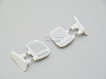 RC 1/10 Scale Truck Side Mirrors Ford F350 Body Mirrors WHITE (2pcs)