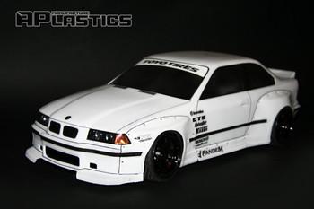 1/10 Body Shell BMW E36 M3 W/ Wide Body Kit 200mm *Clear*