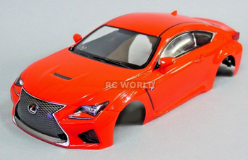 1/10 RC Car BODY Shell LEXUS RCF 190mm *FINISHED* RED