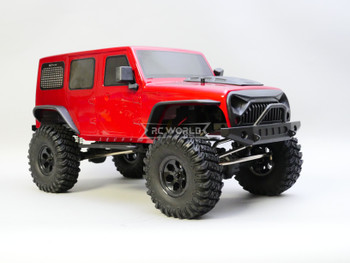 1/10 RC Jeep Wrangler 4 Door Rock Crawler 4x4 RTR 313mm Red