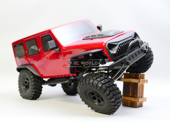 1/10 RC Jeep Wrangler 4 Door Rock Crawler RTR 313mm Red
