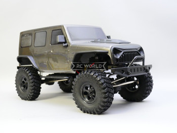 1/10 RC Jeep Wrangler 4 Door Rock Crawler 4x4 RTR 313mm Gray