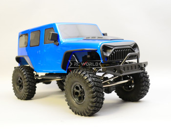 1/10 RC Jeep Wrangler 4 Door Rock Crawler 4x4 RTR 313mm Blue