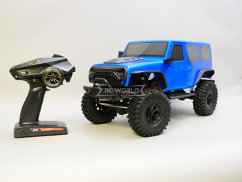 1/10 RC Jeep Wrangler 4 Door Rock Crawler 4x4 RTR Blue