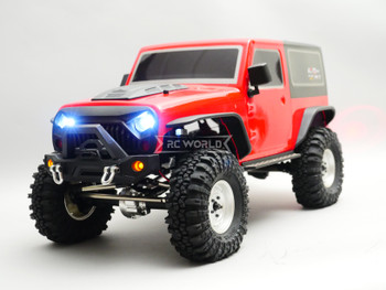 RC 1/10 Jeep Wrangler 2 Door Rock Crawler 4x4 RTR 285mm Red