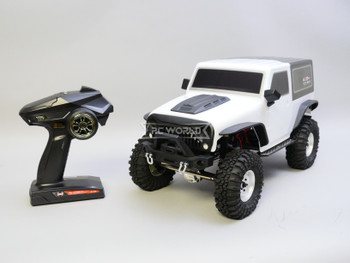 RC 1/10 Jeep Wrangler 2 Door Rock Crawler 4x4 RTR 285mm White
