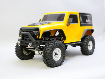 RC 1/10 Jeep Wrangler 2 Door Rock Crawler 4x4 RTR 285mm Yellow